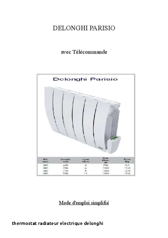 Delonghi Trd4 0820 Élégant Collection 24 thermostat Radiateur Electrique Delonghi