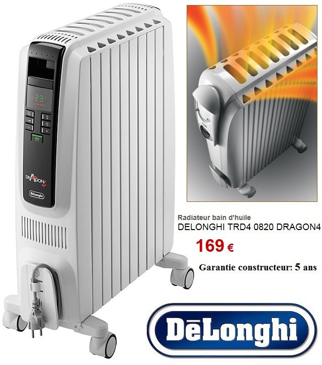 Delonghi Trd4 0820 Luxe Stock Chauffage D Appoint Avec thermostat Perfect Trotec Radiateur Bain
