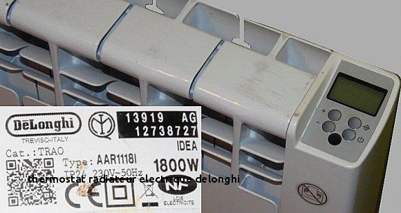 Delonghi Trd4 0820 Unique Stock 24 thermostat Radiateur Electrique Delonghi