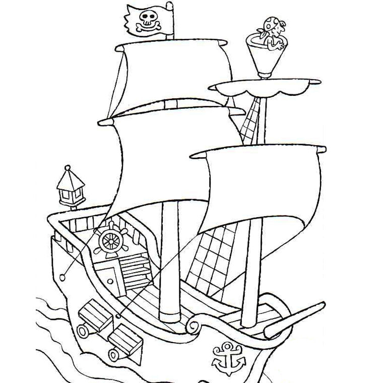 Dessin à Colorier Playmobil Beau Photos Coloriage Bateau Pirate Avec Pirates Meilleures Idées Coloriage