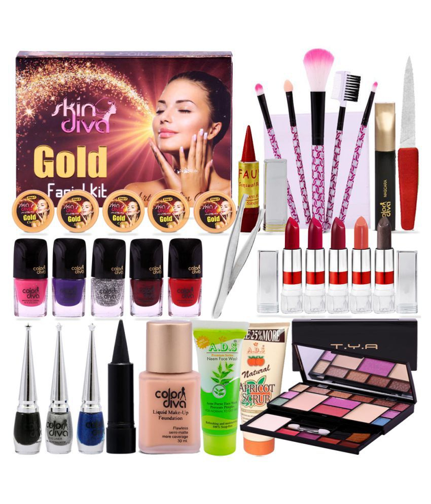 Diva 1 2 3 Inspirant Collection Adbeni Makeup Bo Set with Color Diva & Skin Diva Facial Kit 500