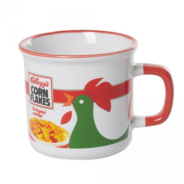 Emporte Piece Gifi Élégant Galerie Mug Kellogg S Corn Flakes Blanc Rouge Et Noir Bol Tasse