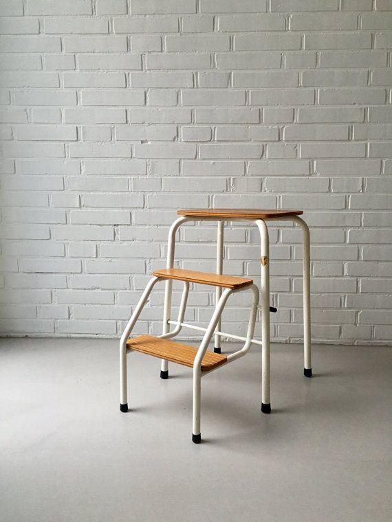 Escabeau En Bois Ikea Élégant Photos Vintage Step Ladder Step Stool 50s 60s Folding Bauhaus Household