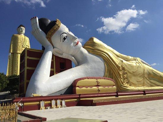 Espace nord Ouest Impressionnant Stock Monywa Plexe De Bodhi Tataung Immenses Bouddhas Couché Et
