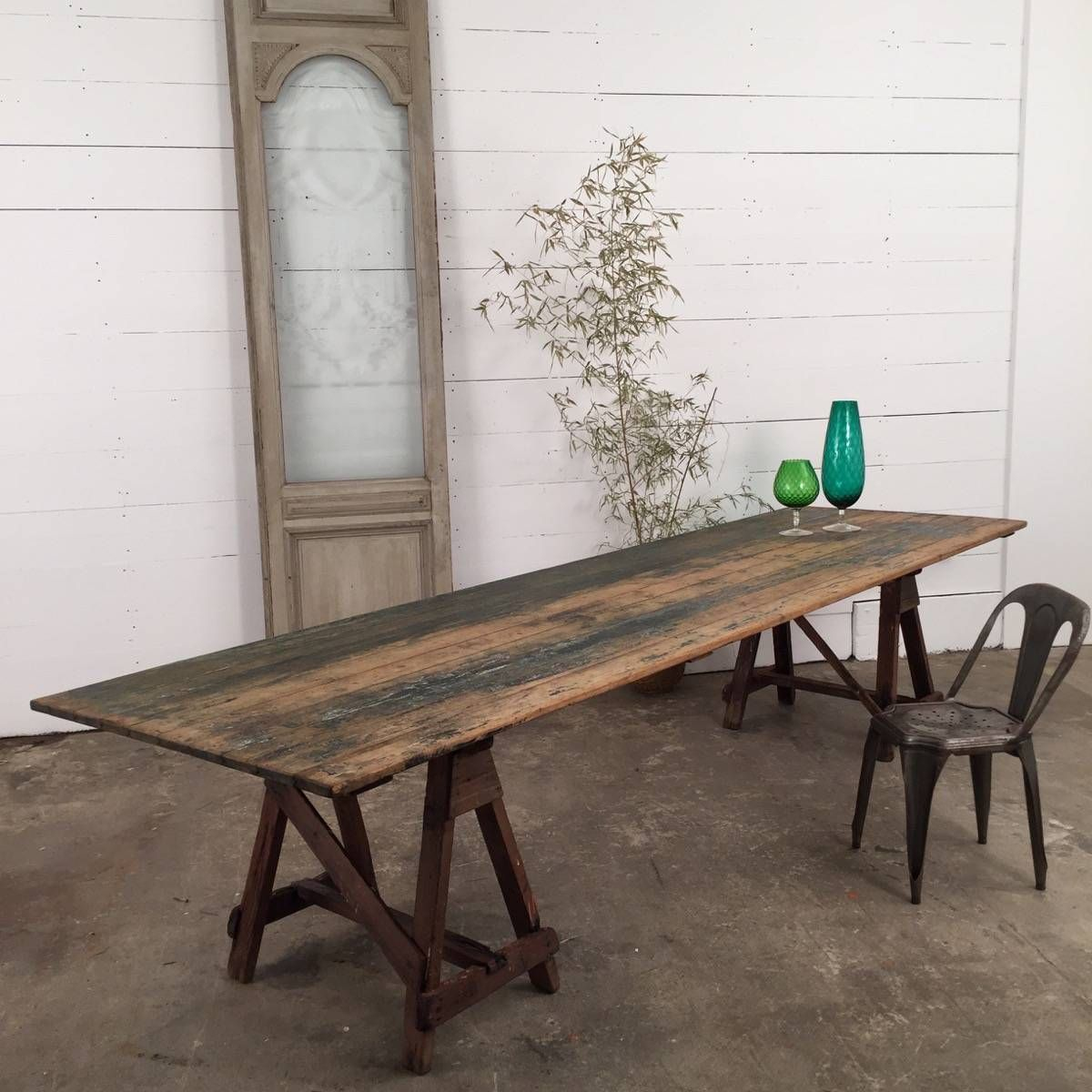 Espace nord Ouest Inspirant Photos Large Industrial Wooden Trestle Table Espace nord Ouest