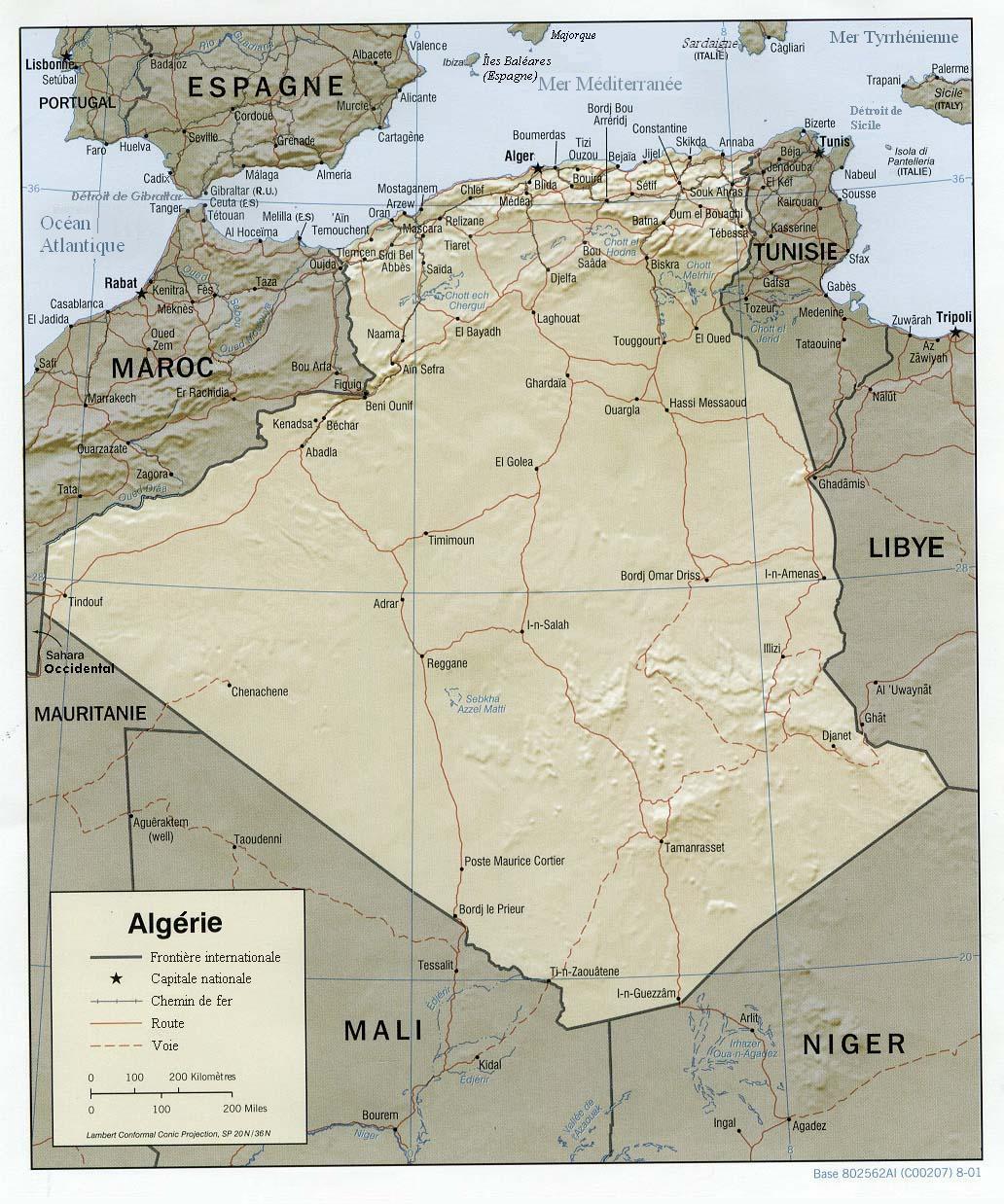 Espace nord Ouest Inspirant Stock Géographie De L Algérie — Wikipédia