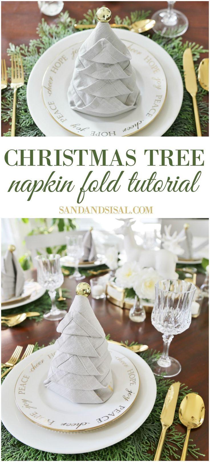 Eurodif Catalogue 2016 Impressionnant Image Christmas Tree Napkin Fold Tutorial
