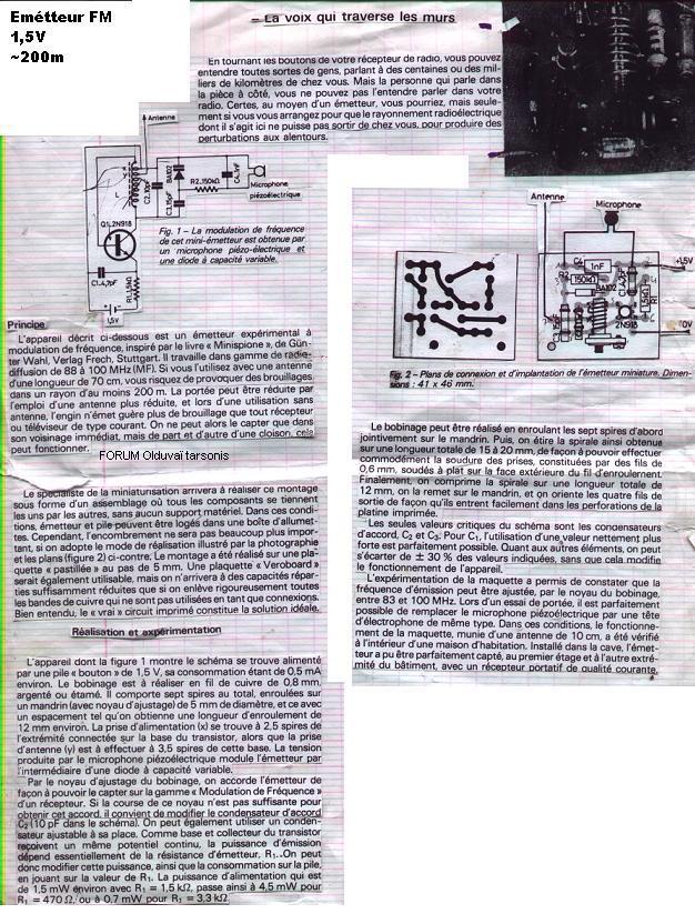 Extracteur D Air à Pile Nouveau Stock Emetteur Récepteur Radio Schéma Construction Portée Page 1