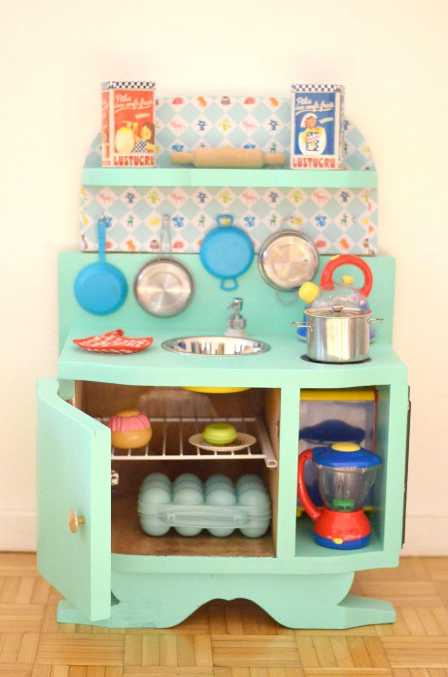 Fabriquer Meuble Salle De Bain Pas Cher Frais Photos Diy Une Cuisine Enfant En Bois  Fabriquer  Partir De Récup