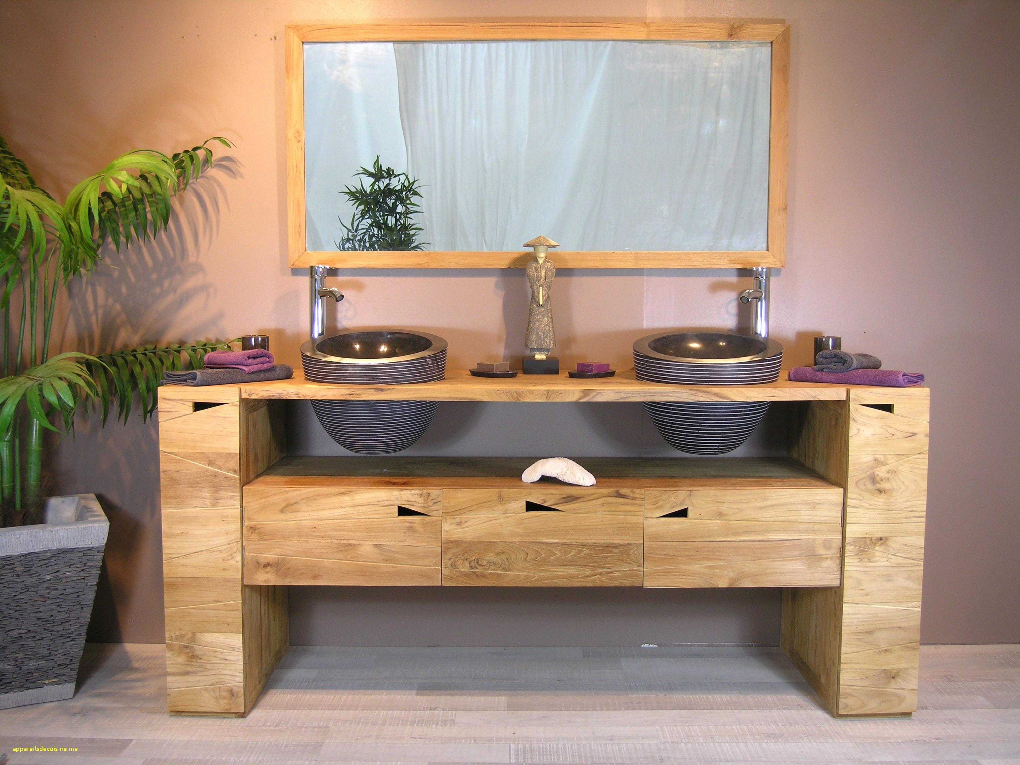 Fabriquer Meuble Salle De Bain Pas Cher Luxe Photographie Meuble En Teck Salle De Bain 35 Double Vasque Bois Ikea