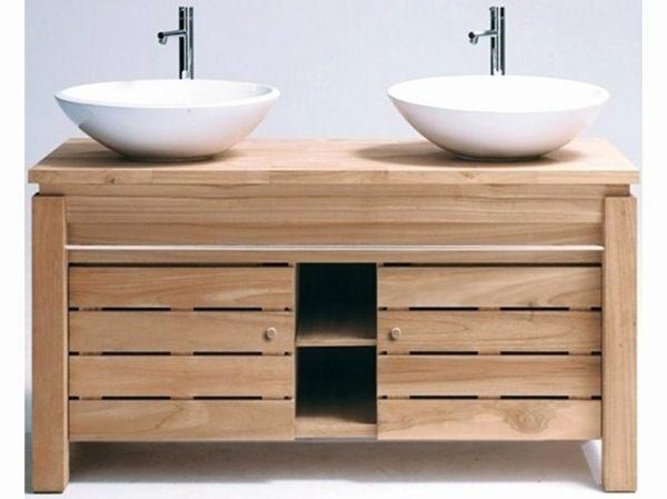 Fabriquer Meuble Salle De Bain Pas Cher Unique Photos Fabuleux Meuble Vasque Teck 34 Salle De Bain 1 Naturel