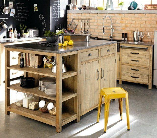 Fabriquer Un Ilot Central Table Beau Photos Fabriquer Un Lot De Cuisine 35 Idées De Design Créatives