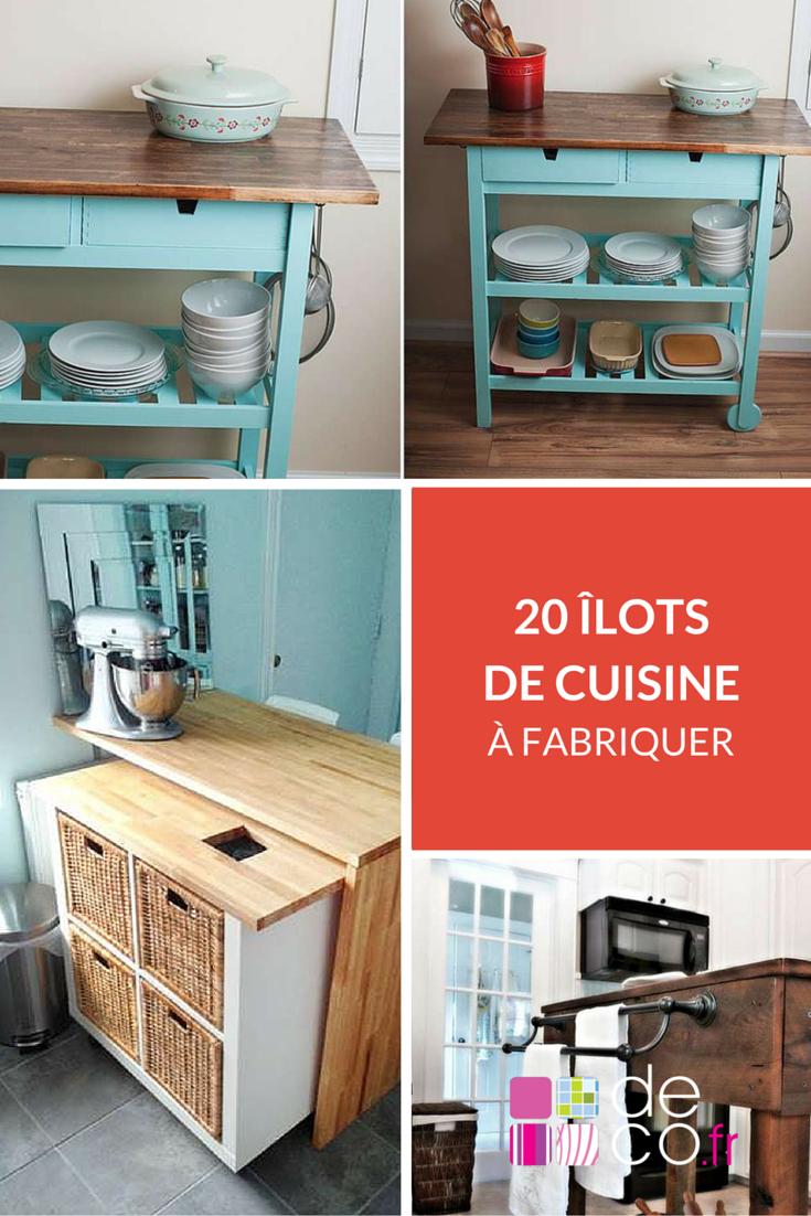 Fabriquer Un Ilot Central Table Élégant Photographie 20 Idées D Lots De Cuisine  Fabriquer