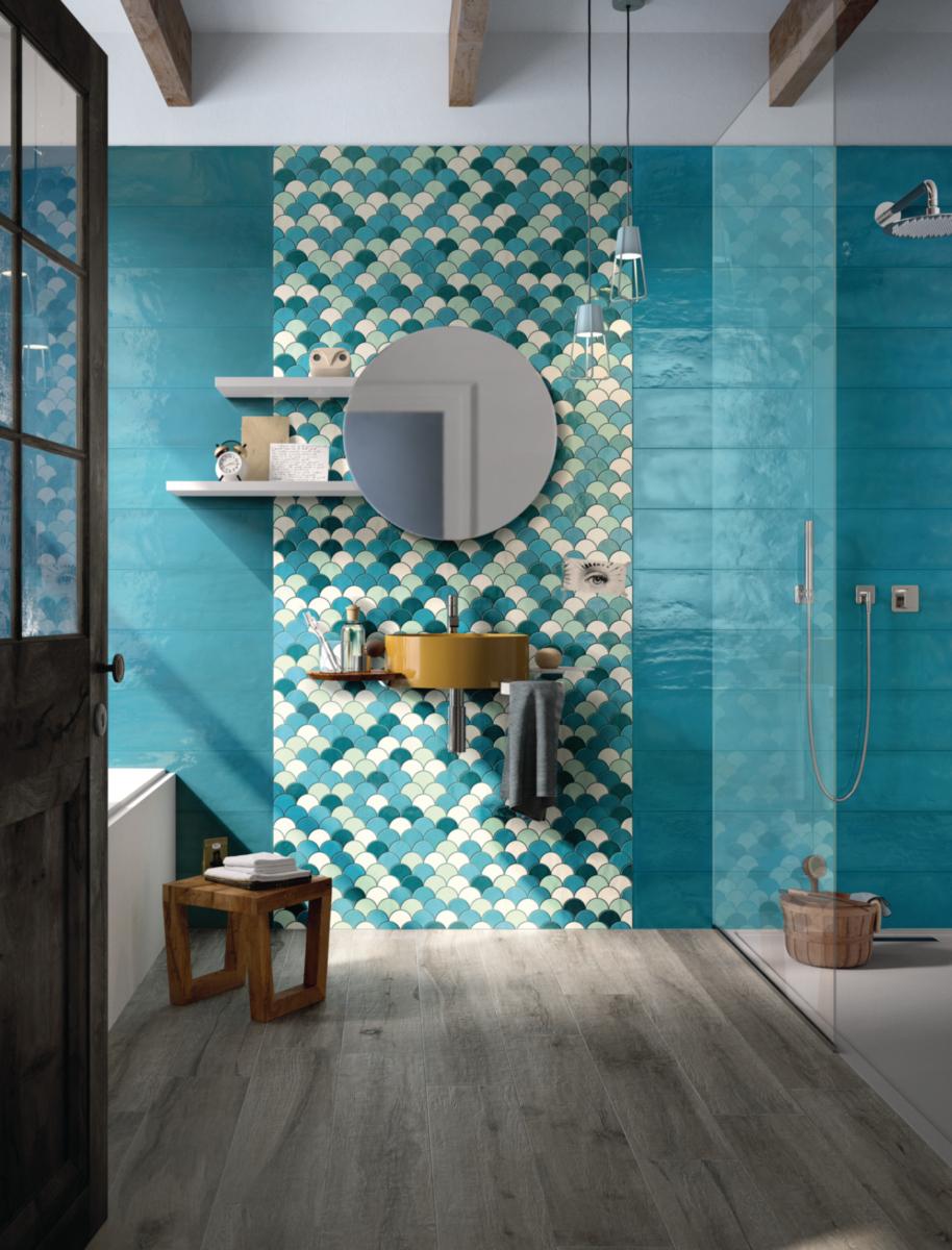 Faience Point P Salle De Bain Inspirant Stock Carrelage Mural Intérieur Fa¯ence Shades Décor Bleu Mix 30x30 Cm