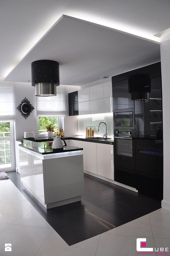 Faux Plafond Cuisine Design Inspirant Collection Kuchnia Styl Glamour Zdjęcie Od Cube Interior Design