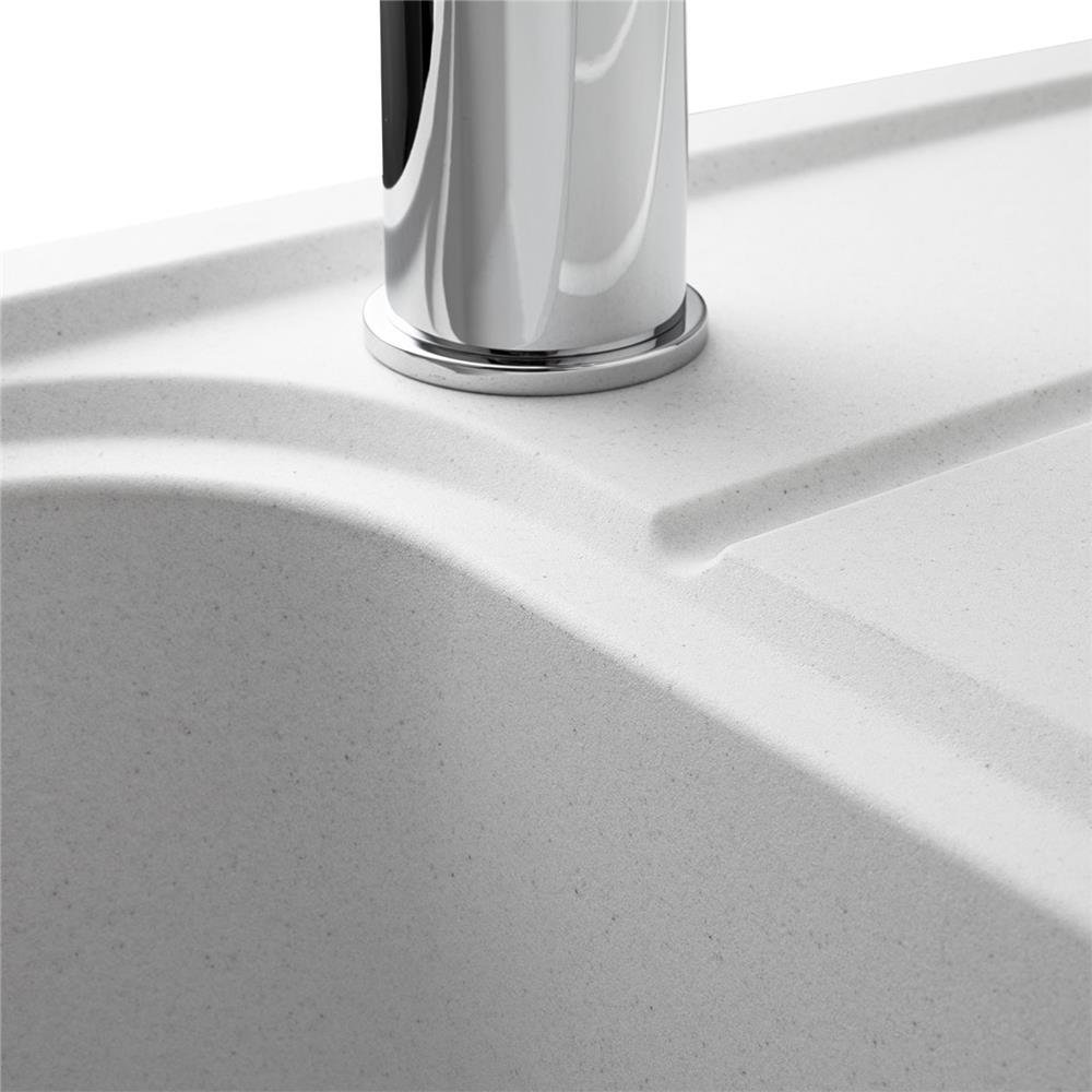 Fond De Hotte Verre Noir 90x70 Meilleur De Image évier  Encastrer Oglio 1 Grand Bac Avec égouttoir Coloris Blanc