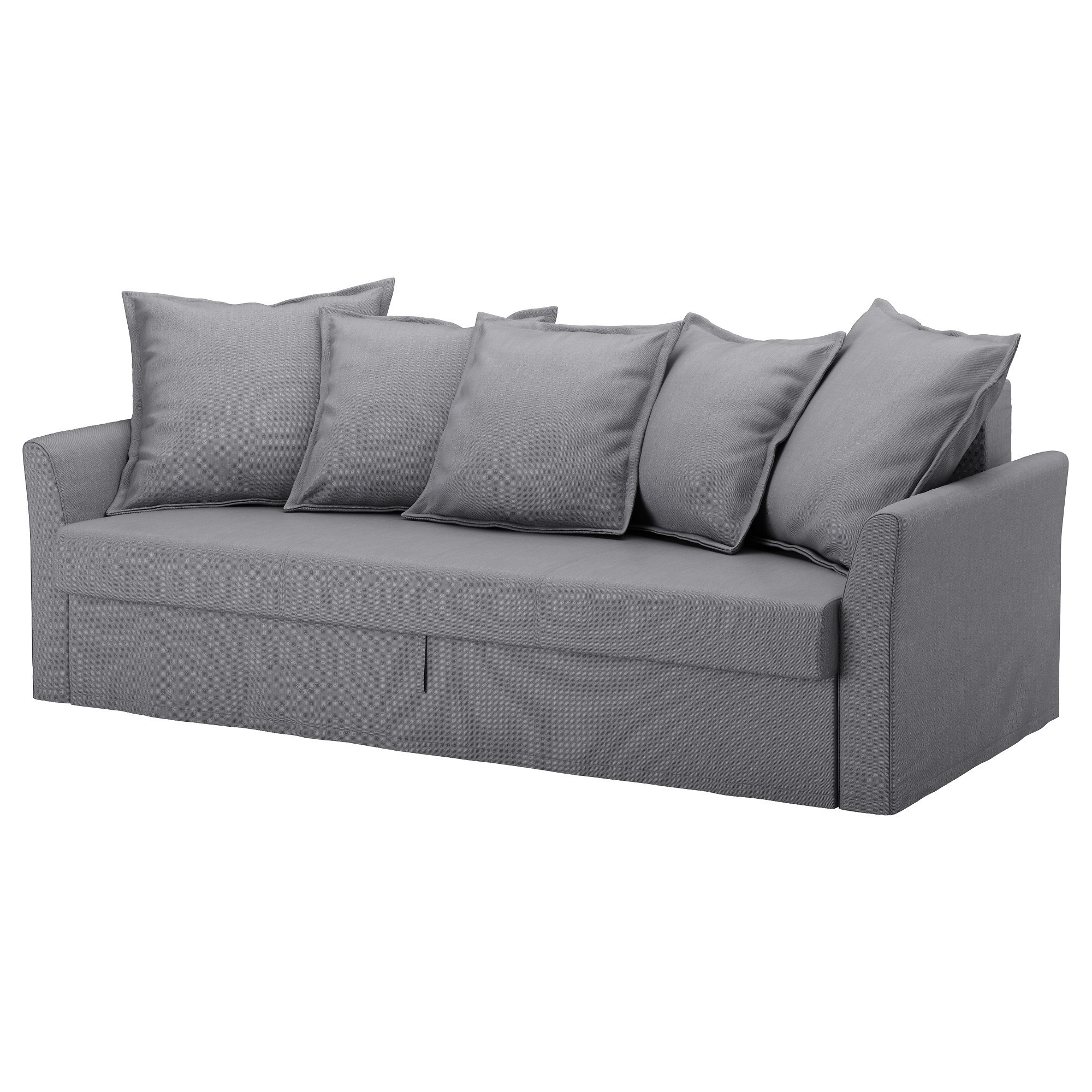 Friheten Ikea Avis Beau Collection Holmsund Cover for sofa Bed nordvalla Medium Gray Idées Uniques