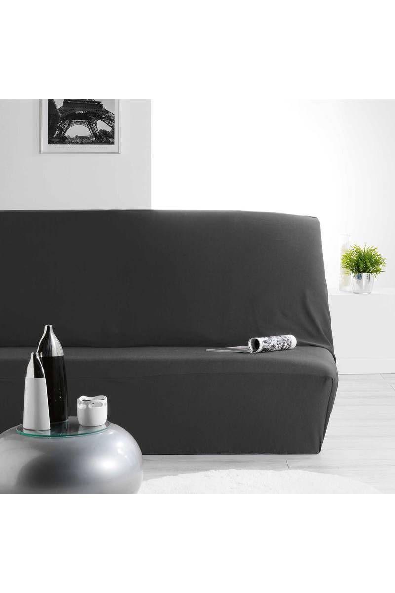 Gifi Housse De Clic Clac Unique Galerie Housse De Clic Clac Noir 140 X 195 Cm Polyester Elasthanne