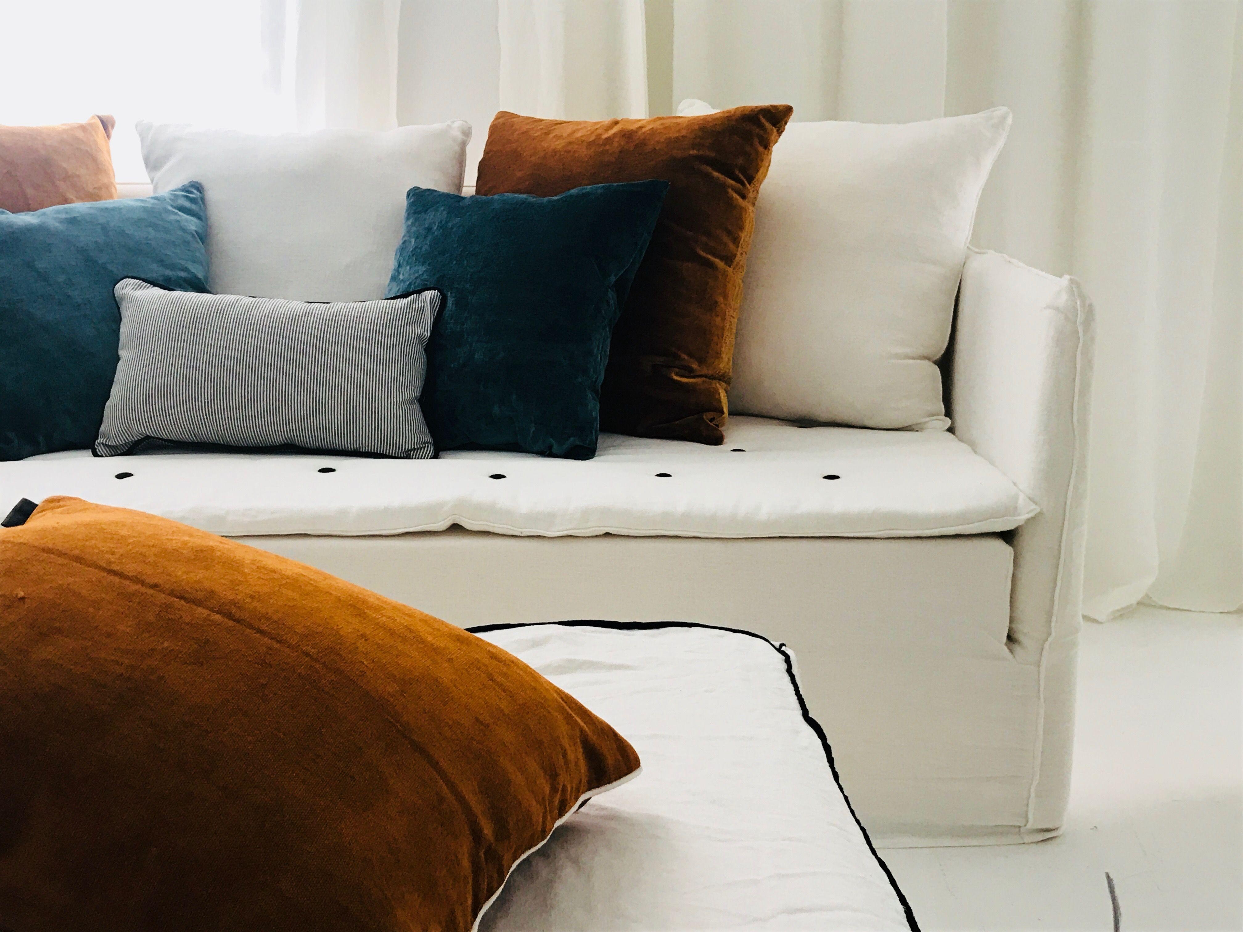 Home Spirit Destockage Impressionnant Photographie Canapé En Lin Blanc Fashion Designs