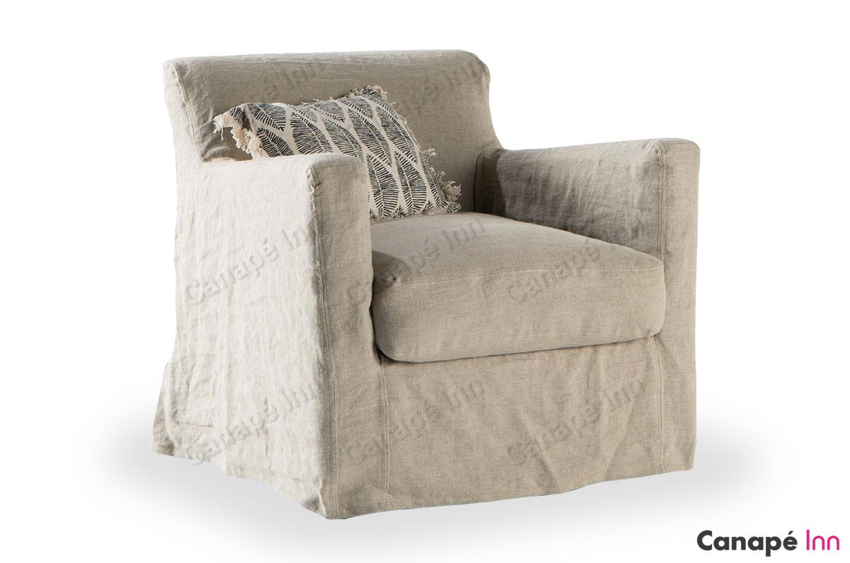 Home Spirit Destockage Luxe Collection Canapé En Lin Blanc Fashion Designs