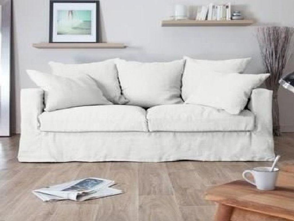 Home Spirit Destockage Luxe Galerie Canapé En Lin Blanc Fashion Designs