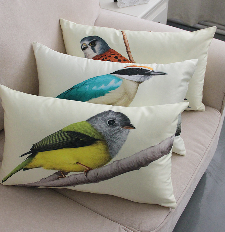 Housse De Canapé 3 Places Avec Accoudoir Pas Cher Inspirant Images ⊹continental Creative Peint Oiseau Taie D oreiller Coussin Canapé