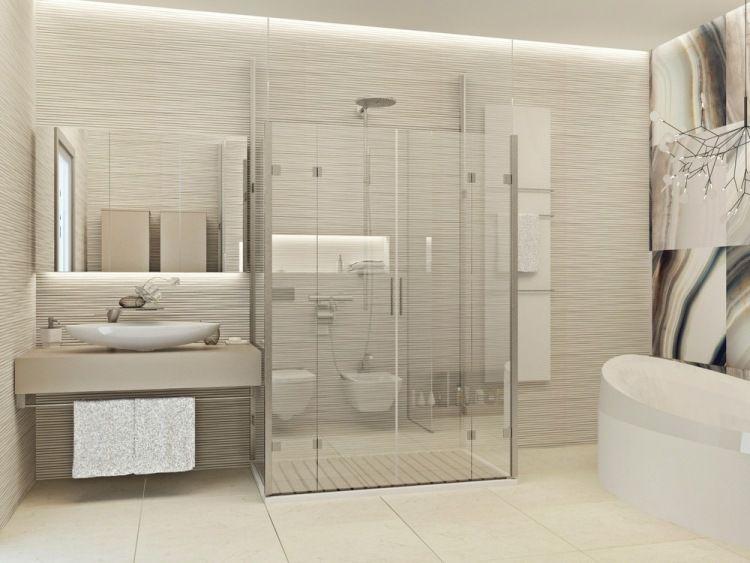 Idee Salle De Bain Beige Meilleur De Image Begehbare Glas Dusche Und Schöne Beige Nuancen Im Bad