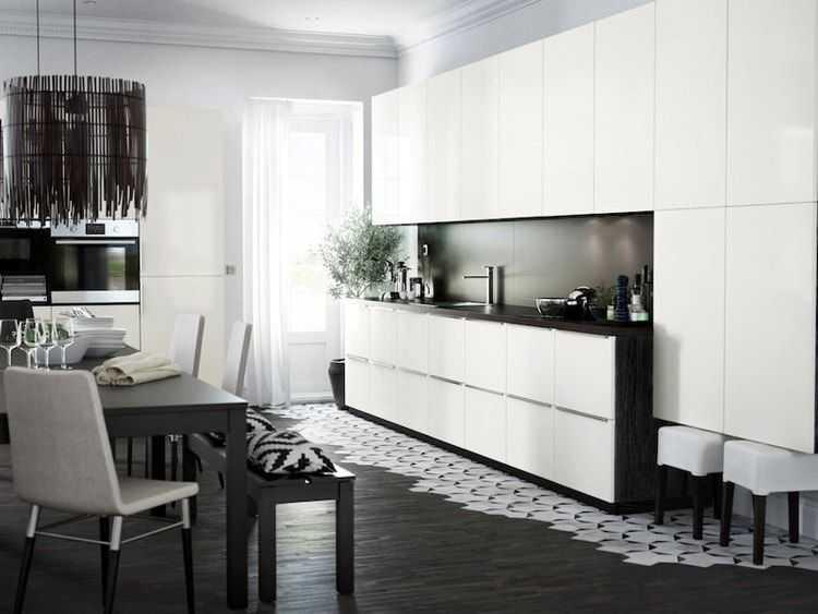 Ikea Cuisine Ringhult Élégant Photos Cuisine Ikea Metod Ringhult Noire Et Blanche Cuisine Conception De