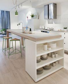 Ilot De Waldo Nouveau Images ダイニングテーブムとキッチン゠ウンターだ融合2