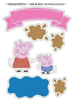 Image Peppa Pig A Imprimer Beau Collection topo De Bolo Peppa Pig