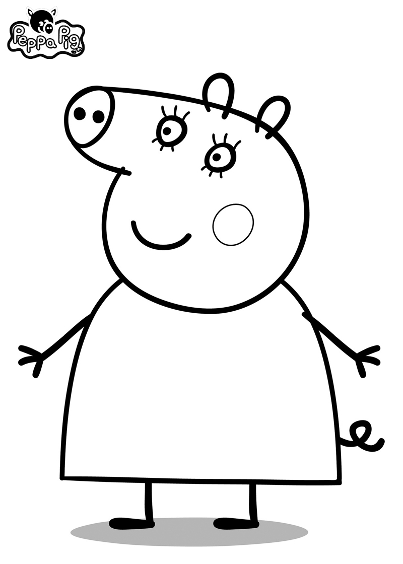 Image Peppa Pig A Imprimer Frais Stock Peppa Pig Coloring Pages Bratz Coloring Pages