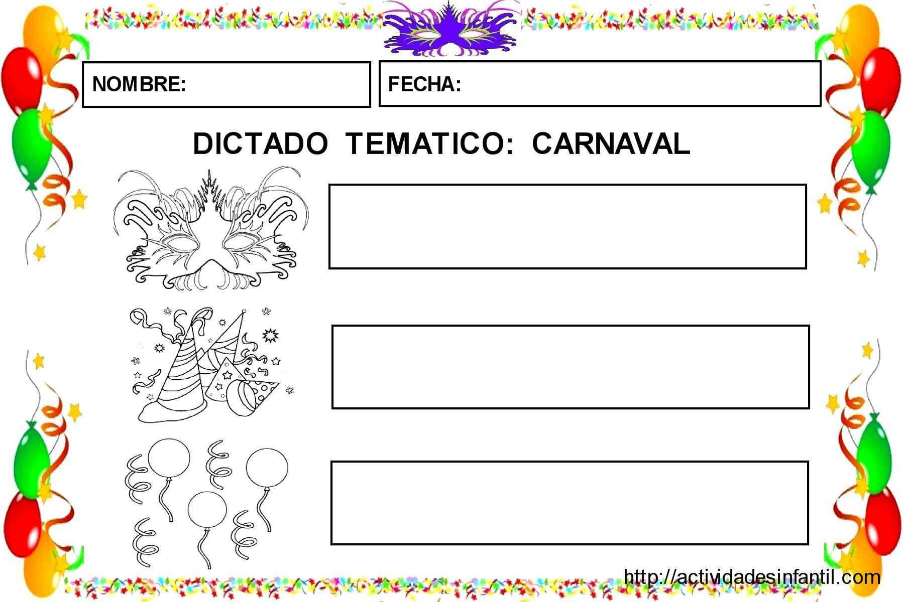 Jardin De Kiran Beau Galerie Aprendemos El Vocabulario De Carnaval Lectura Y Escritura