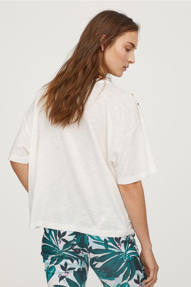 La Cuisine Des Femmes Frais Stock T Shirt Brodé Blanc Femme
