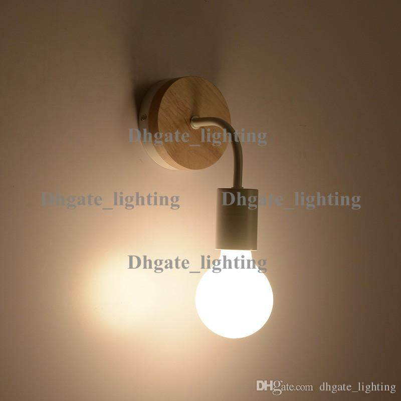 Lampe De Chevet solaire Frais Photos Acheter 9w Led E27 Vintage Lampe De Mur En Bois Massif Chambre €