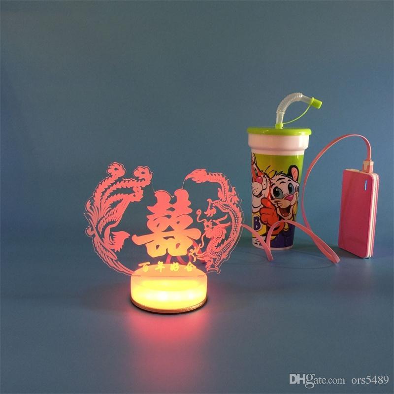 Lampe De Chevet solaire Meilleur De Galerie Acheter 3d Petite Lampe De Bureau Usb Bluetooth Trois Roses Art