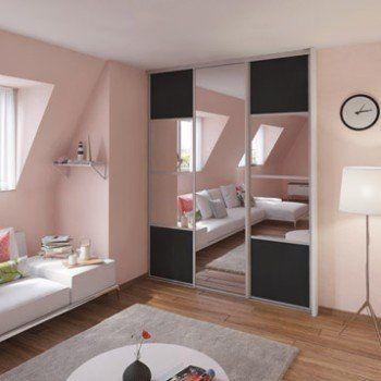Leroy Merlin Miroir Sur Mesure Nouveau Stock Porte De Placard Coulissante Gris Graphite Miroir Spaceo L 67 X H
