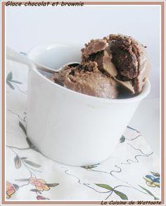Les Delices De Capu Élégant Collection Glace Au Chocolat Fudge Brownies Et Noisettes Caramélisées Les