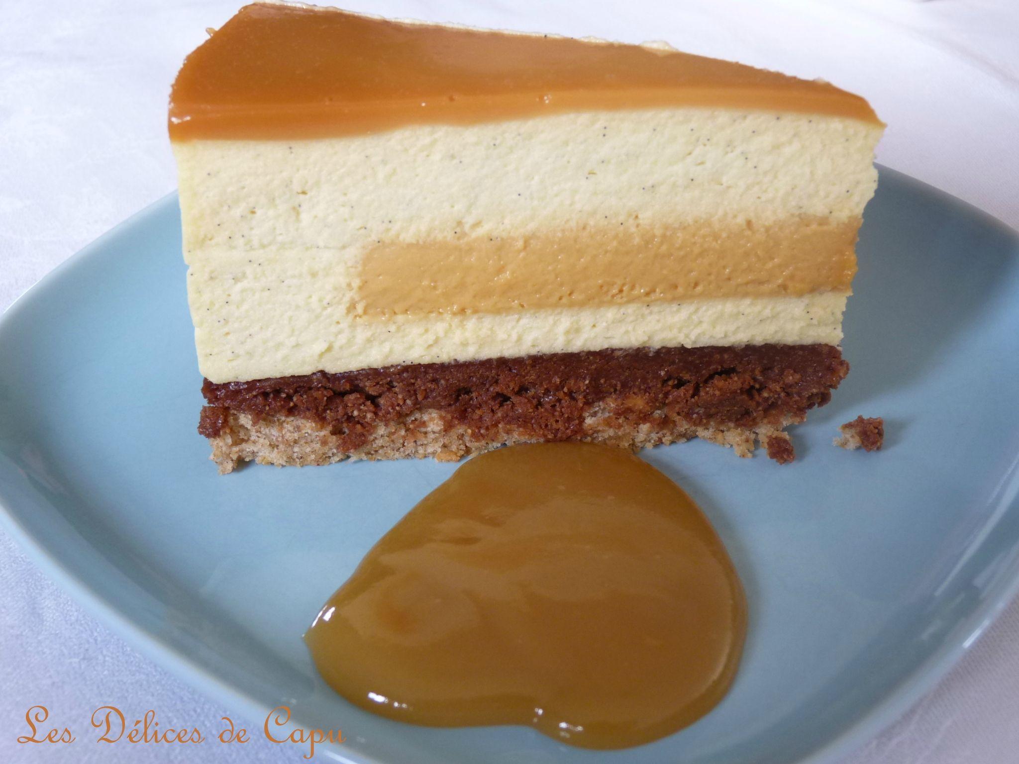 Les Delices De Capu Nouveau Photos Entremets Vanille Caramel Et Praliné2 Cakes V Pinterest