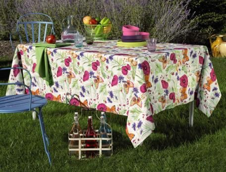 Linvosges Tapis De Bain Élégant Photos Linge De Table Chante Fleurs Collection Printemps Eté 2014
