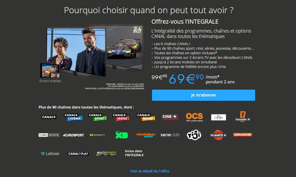 """Magasin Adidas Plan De Campagne Élégant Photos Bon Plan Frez Vous """"l Integrale Canal"""" Pour 69 90€ Mois Au Lieu"""