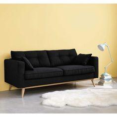 Maison Du Monde Brooke Élégant Photos Ausziehbares 3 Sitzer sofa Grau Meliert