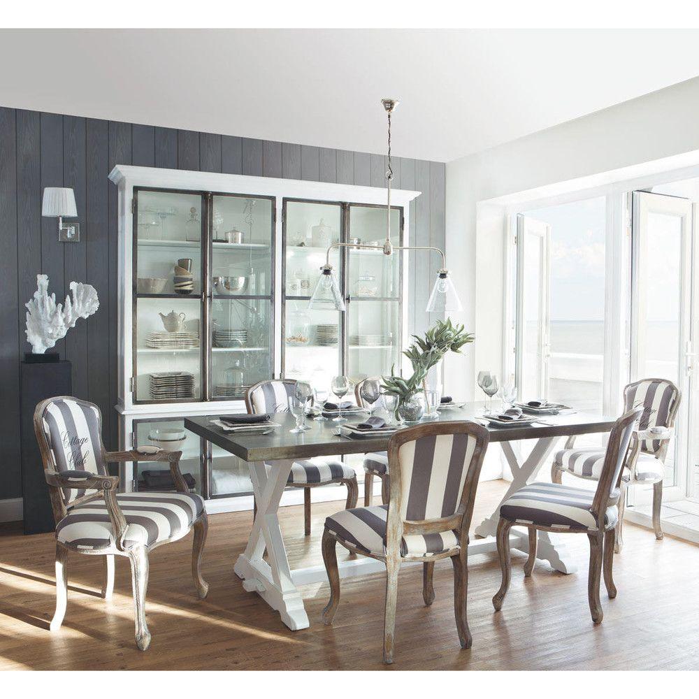 Maison Du Monde Saumur Impressionnant Image Fauteuil  Rayures En Coton Gris Et Blanc Cottage Club