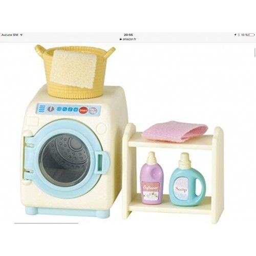Marque De Jouet Liste Meilleur De Image Sylvanian Families 3565 Mini Poupée Set Machine  Laver