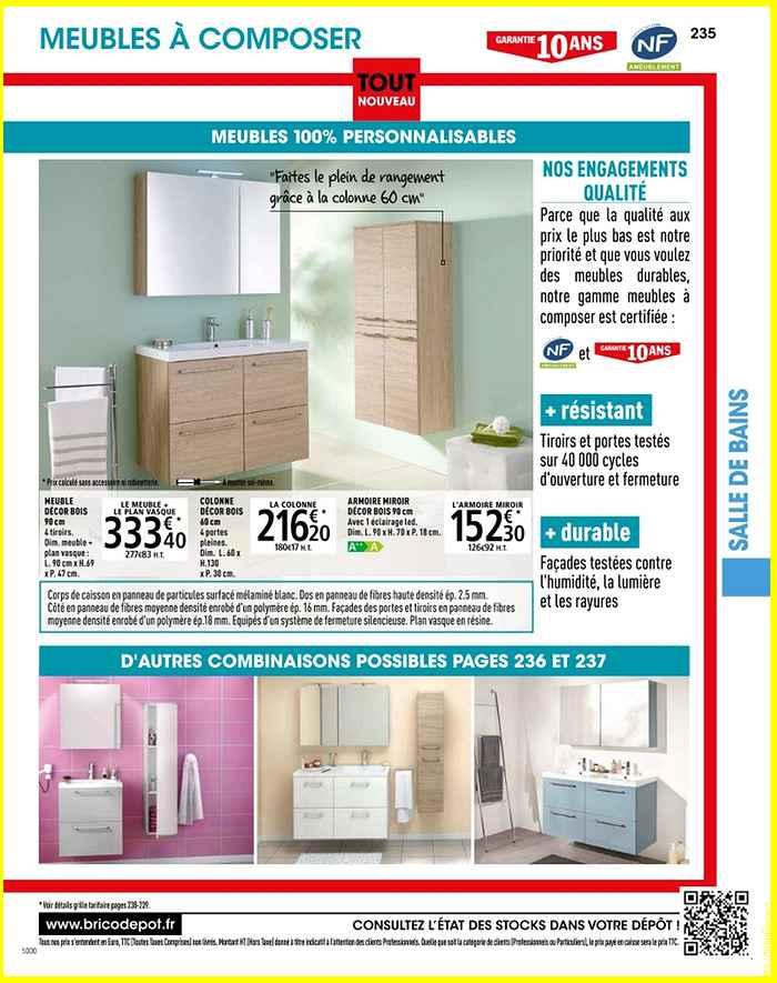 meuble lavabo salle de bain brico depot beau galerie. Black Bedroom Furniture Sets. Home Design Ideas