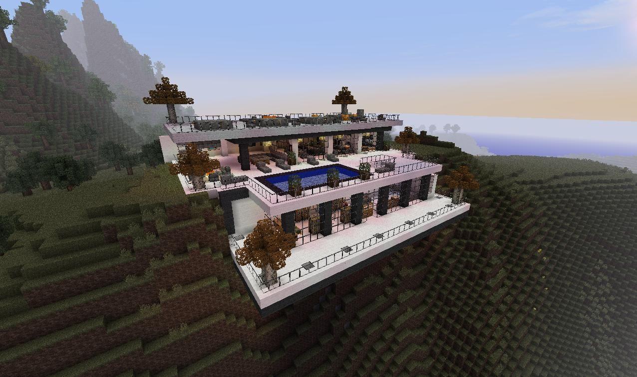 Meuble Moderne Minecraft Élégant Image Modern Minecraft Cliffside Mansion Minecraft