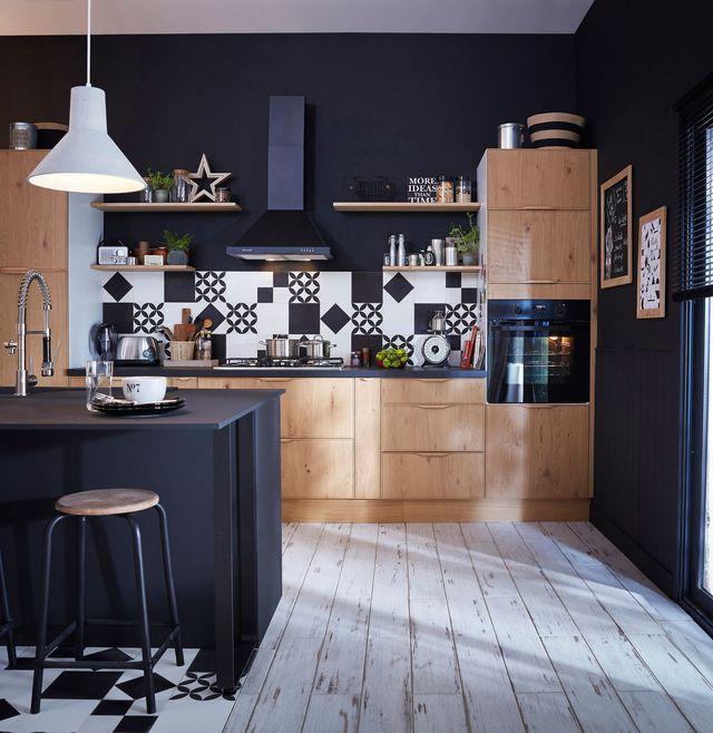 Meuble Petit Dejeuner Leroy Merlin Frais Collection Idee Deco Osez Le Noir Sur Un Meuble Un Plafond Un sol