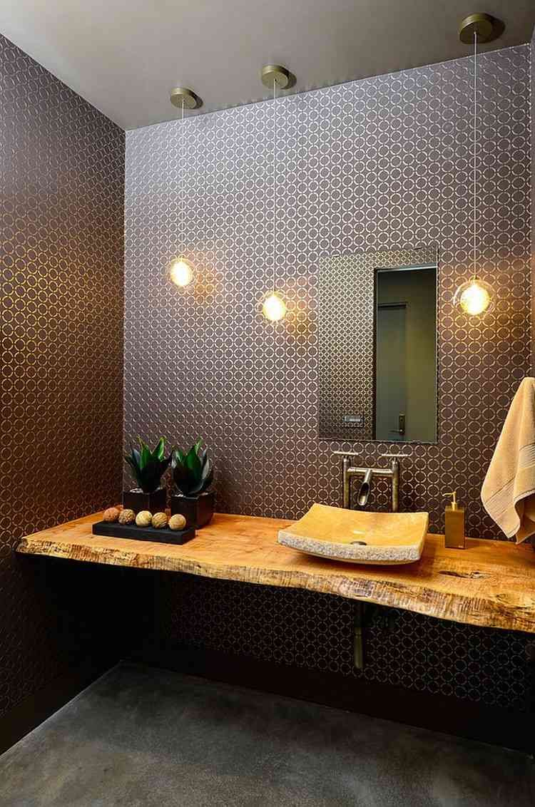 Meuble Salle De Bain Etabli Inspirant Galerie Plan Vasque Bois Brut Dans La Salle De toilette – Osez Le Style Live