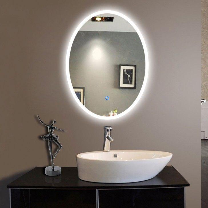 Meuble Salle De Bain Halo Frais Photos 20 Po X 28 Po Miroir Led Ovale De Salle De Bain Avec L Interrupteur