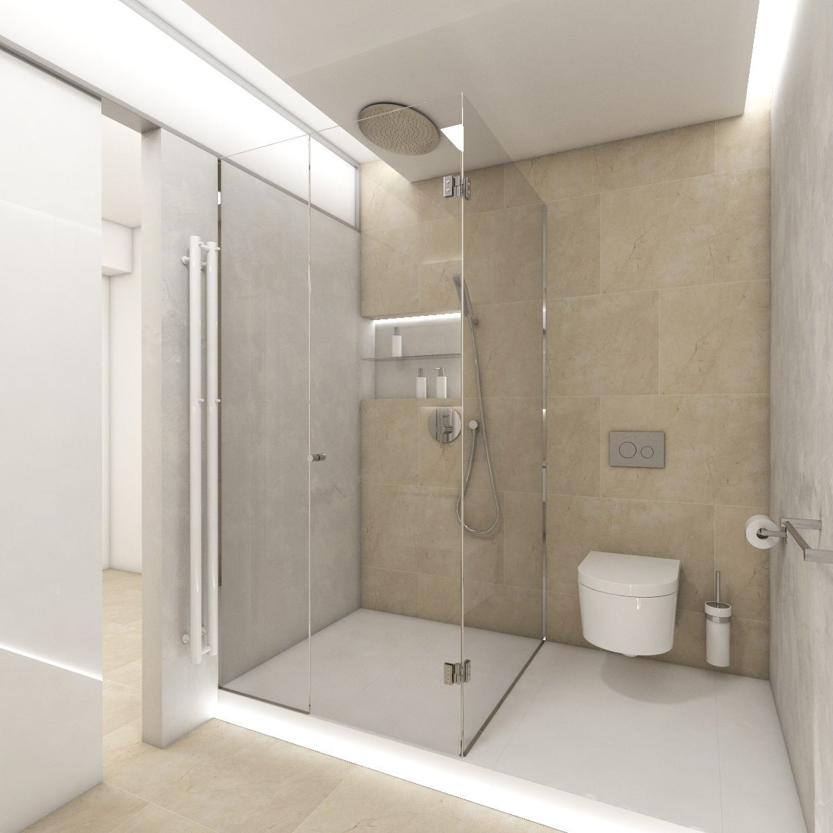 Meuble Salle De Bain Halo Nouveau Image Modern Koupelna Halo Pohled Od Umyvadla Ke Vstupu