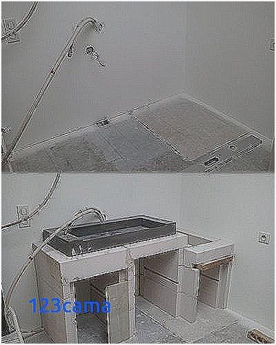Meuble Salle De Bain Siporex Élégant Galerie Beton Cellulaire Salle De Bain attraper Les Yeux Fabriquer Meuble